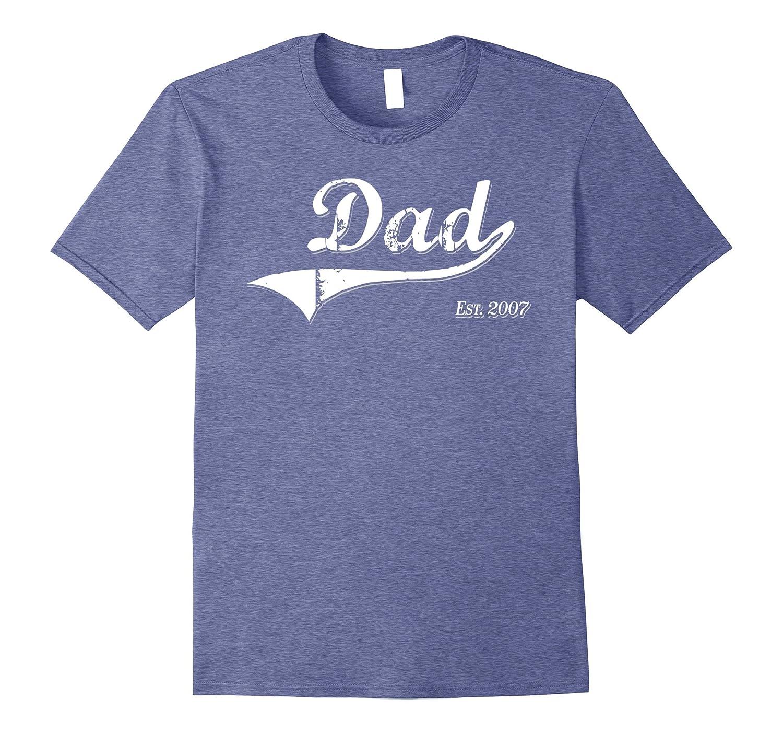 Mens Dad Est 2007 Shirt Fathers Day Gift Shirt Dad Shirt Funny-CD