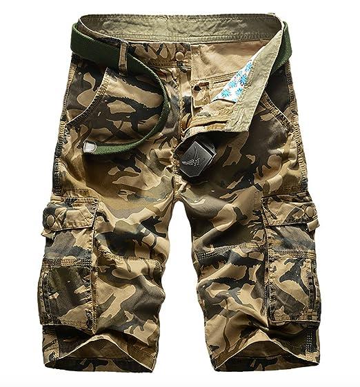 Elonglin Homme Eté Cargo Shorts Bermuda Pantacourt Vintage Camo Shorts de  Sport Outdoor Shorts Coton sans Ceinture  Amazon.fr  Vêtements et  accessoires c86ef99491b