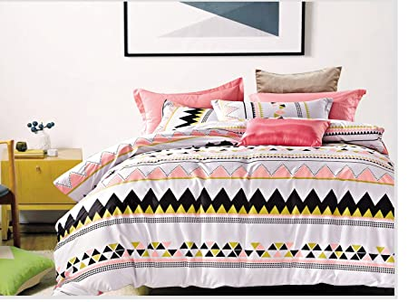Cliab Tribal Bedding For Teens Aztec Bedding Exotic Black Pink White