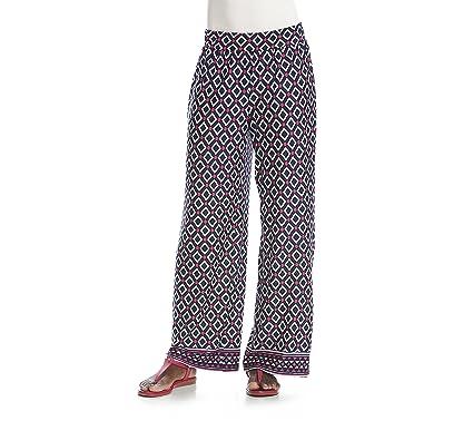 6eabf1783d4 Studio Works Petites  Geometric Print Wide Leg Knit Pants Petite Large
