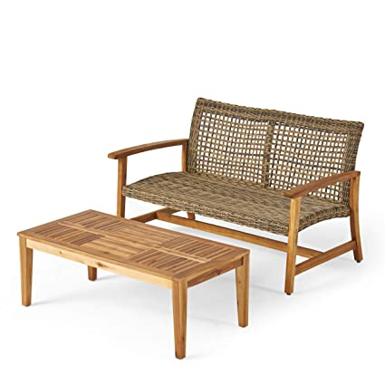 Swell Amazon Com Great Deal Furniture Spring Spender Outdoor Wood Evergreenethics Interior Chair Design Evergreenethicsorg