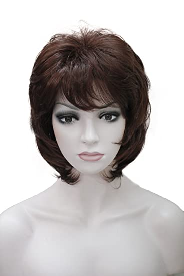Wiginway Short Dark Red Wigs Synthetic Hair