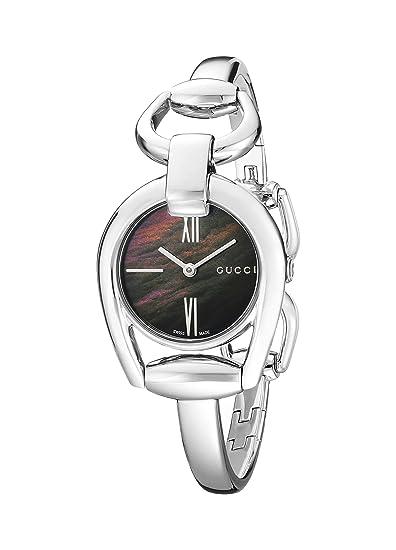 Gucci YA139503 - Reloj de cuarzo para mujer, con correa de acero inoxidable, color