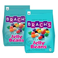 Brach's Classic Jelly Beans, Assorted Flavors, 3.38 Pound Bulk Candy Bag, Pack of 2