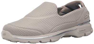 Skechers Damen Go Walk 3 Unfold Sneakers Grau