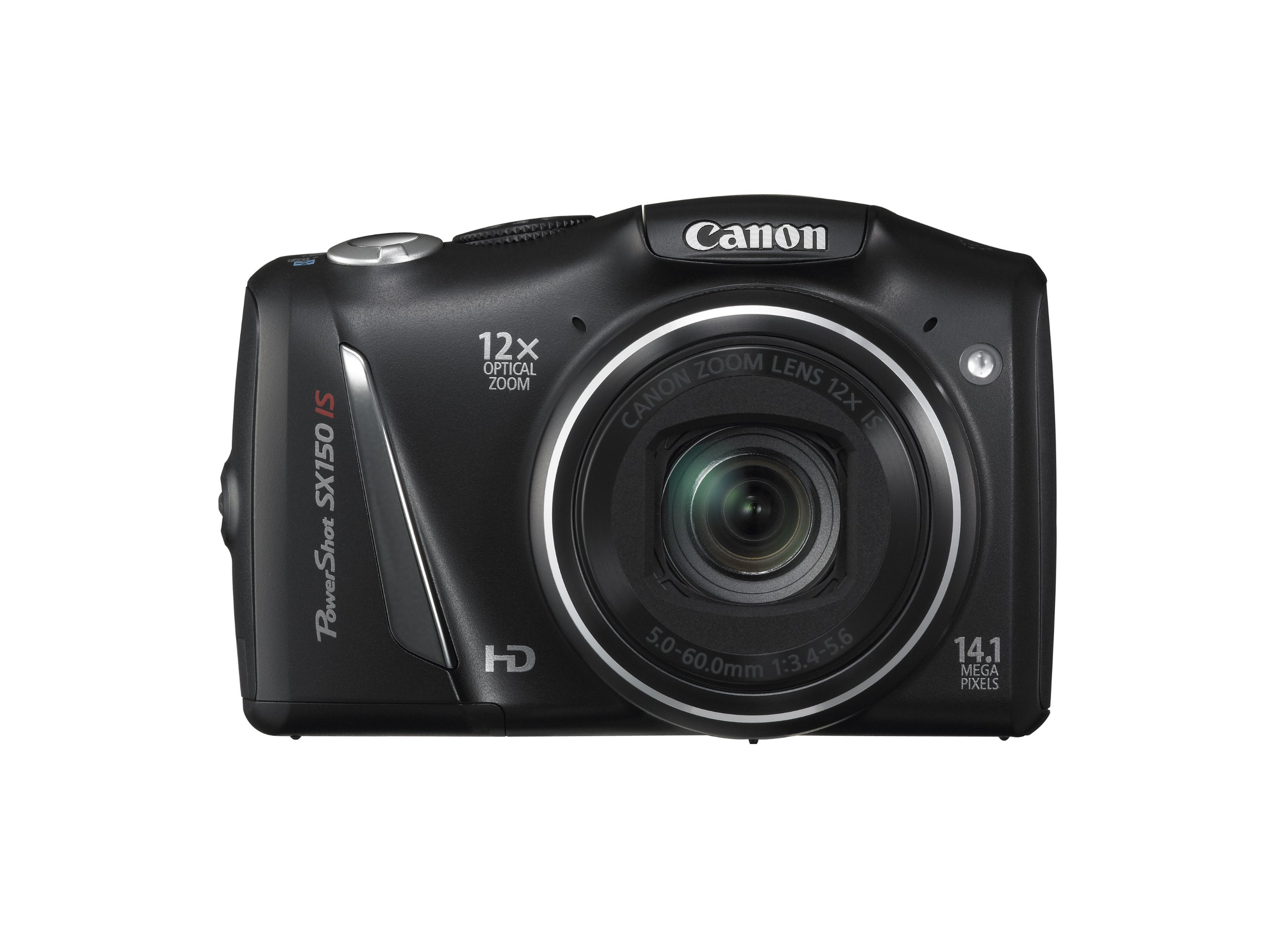Canon PowerShot SX150 IS 14.1 MP Digital Camera with 12x Wide-Angle Optical Image Stabilized Zoom with 3.0-Inch LCD (Black) (OLD MODEL) by Canon