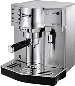 DeLonghi Pump Espresso Semi-automatic Coffee Machine, Stainless Steel, EC860M