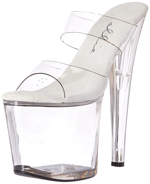 Ellie Shoes Women's 821-coco Platform Sandal B06XZLXW37 11 B(M) US Clear