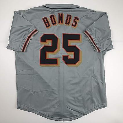 a02ec0080d6 Unsigned Barry Bonds San Francisco Grey Custom Stitched Baseball Jersey  Size Men s XL New No Brands