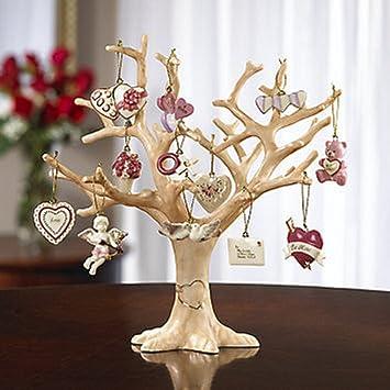 LENOX BE MINE VALENTINE 12 miniature Tree Ornaments set NEW in BOX mini
