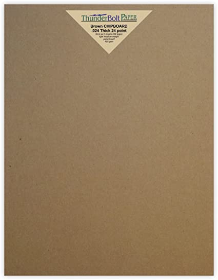 Amazon 50 Sheets Chipboard 24pt Point 8 X 10 Inches Light