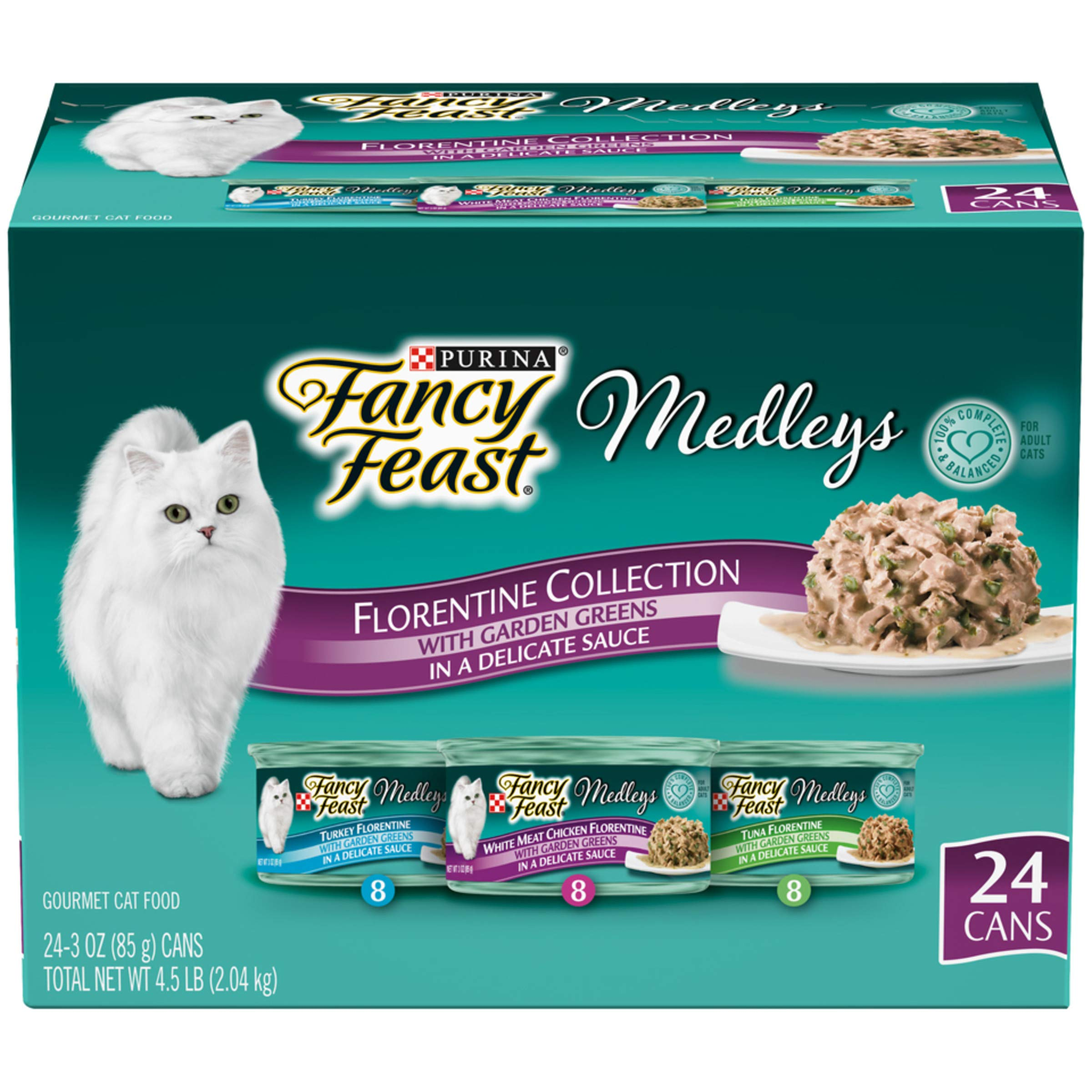 Purina Fancy Feast Gravy Wet Cat Food Variety Pack, Medleys Florentine Collection - (24) 3 oz. Cans by Purina Fancy Feast