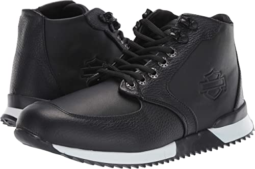 Harley-Davidson Men/'s Cadden Black Leather Sneakers D93546