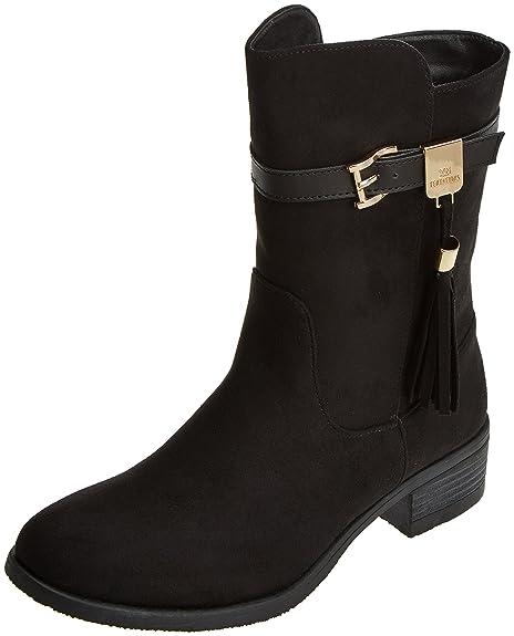XTI 030444, Botines para Mujer, Negro (Black), 38 EU: Amazon.es: Zapatos y complementos