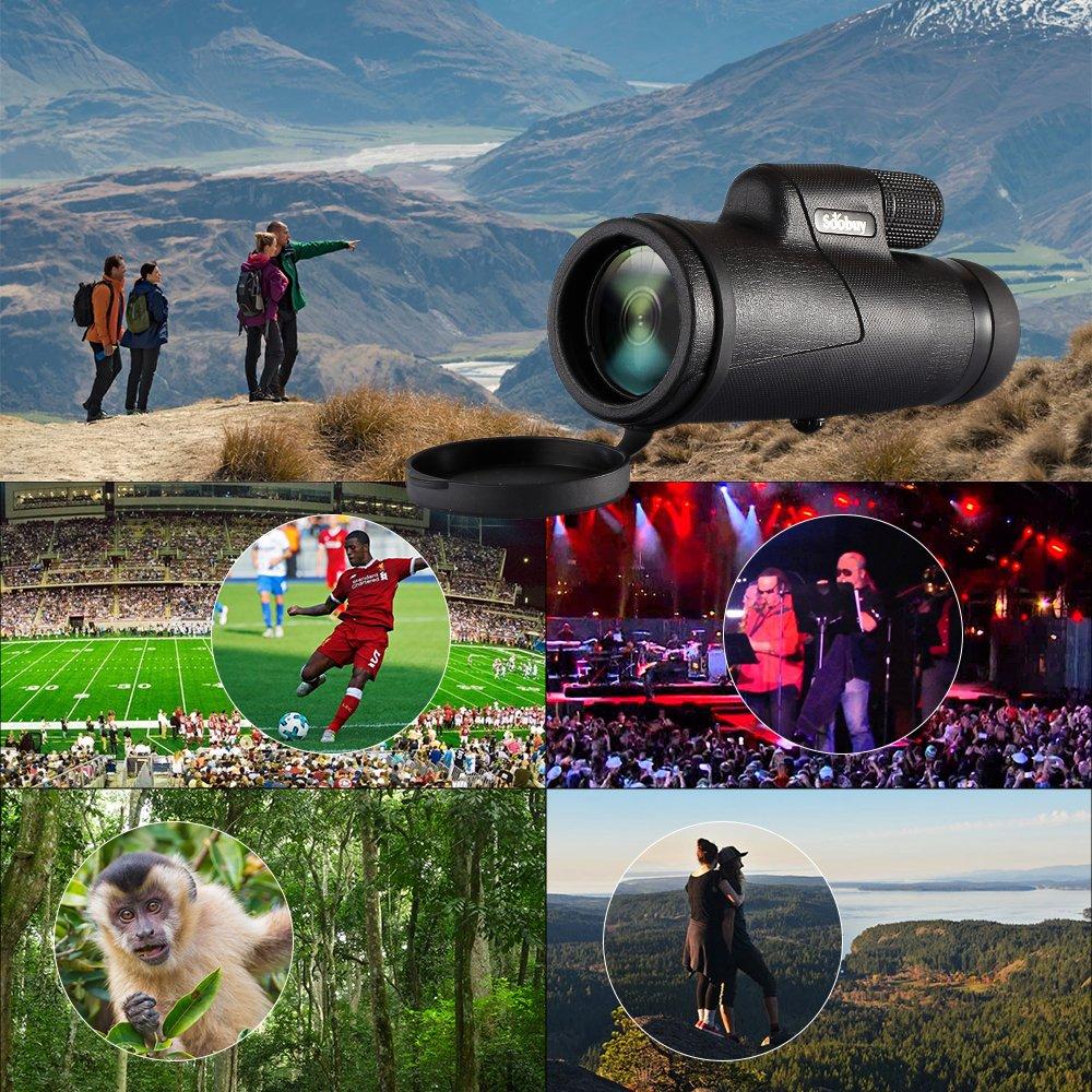 Monocular, Soobuy High Power Prism Monocular Scope - 12X42 Waterproof Fog-proof Shockproof Telescope, FMC BAK4 Prism for Birding Watching, Hunting, Concerts, Traveling, Wildlife Scenery by Soobuy (Image #7)