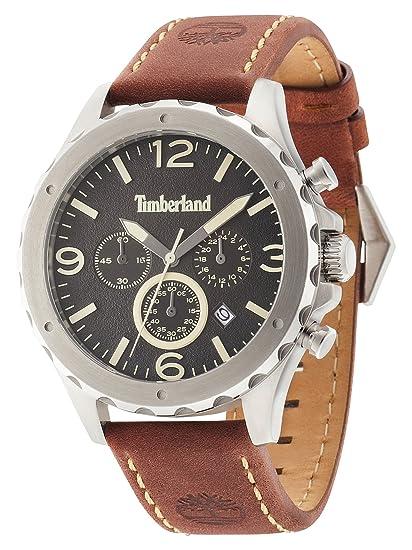 Timberland Reloj Analogico para Hombre de Cuarzo con Correa en Piel 14810JS/02