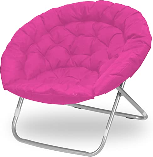 Urban Shop Pink Oversized Saucer Chair