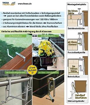 Treba Support De Jardinière Pour Balcon Sans Vis Balcon Appui De