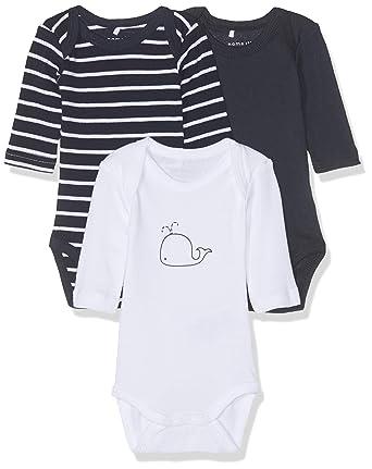 fd6e1f515ee32 Name It Grenouillère Bébé garçon (Lot de 3)  Amazon.fr  Vêtements et  accessoires