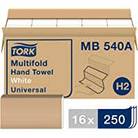 Tork MB540A Universal Multifold Single-Ply Hand Towel, White