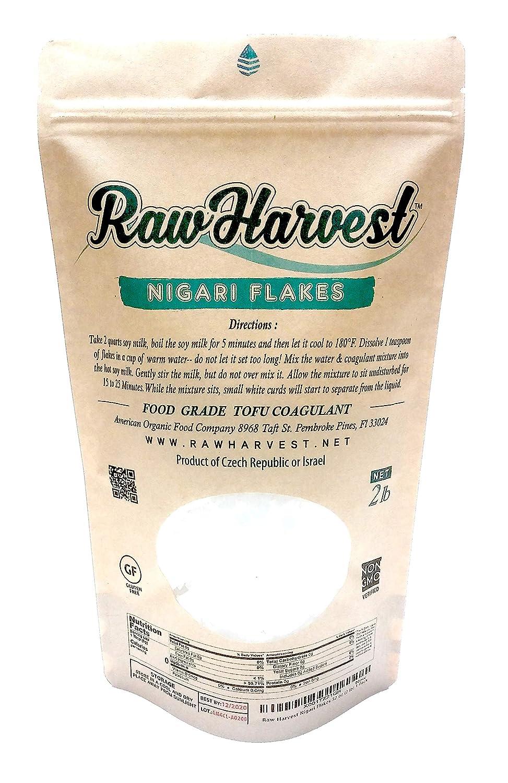 RawHarvest Nigari Flakes 32 oz (2 Lb) Food Grade Tofu Coagulant