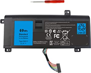 Shareway 6-Cell Replacemnet Laptop Battery for Dell Alienware 14 A14 M14X R3 R4 14D-1528 ALW14D-5728 ALW14D-5528 G05YJ 0G05YJ [11.1V 69Wh]
