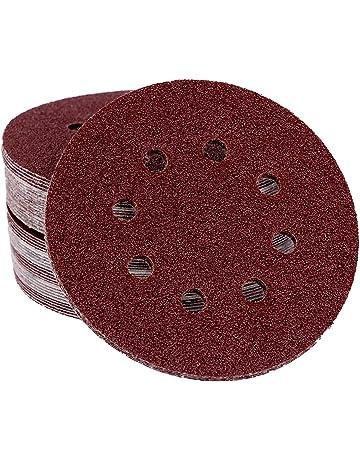 10x papier abrasif avec Velcro Pour Meuleuse Ø 150 mm 8-Trous Grain 100