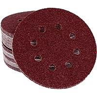 180hojas velcro/antiadherente–Lija para lijadora excéntrica, 125mm de diámetro–8agujeros