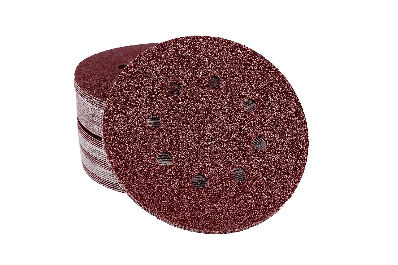 /Ø 125/mm/ /8/trous//disques abrasifs//excentrique Papier abrasif 50/feuilles//disques abrasifs adh/ésive Velcro pour ponceuse excentrique Grain 60