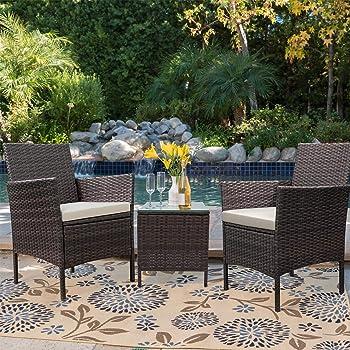 Devoko 3 Pieces Patio Porch Furniture Sets