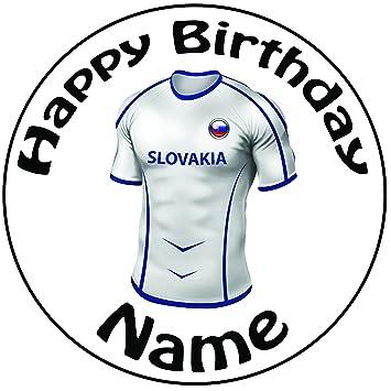 """Personalizado Eslovaquia camiseta de fútbol decoración para tarta para – una precortado redondo 8 """""""