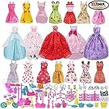 Barbie dolls accessories, Dress Accessories for Barbie Dolls, 14pcs Summer Skirts Dresses +5 pcs wedding dress +98 Barbie accessory