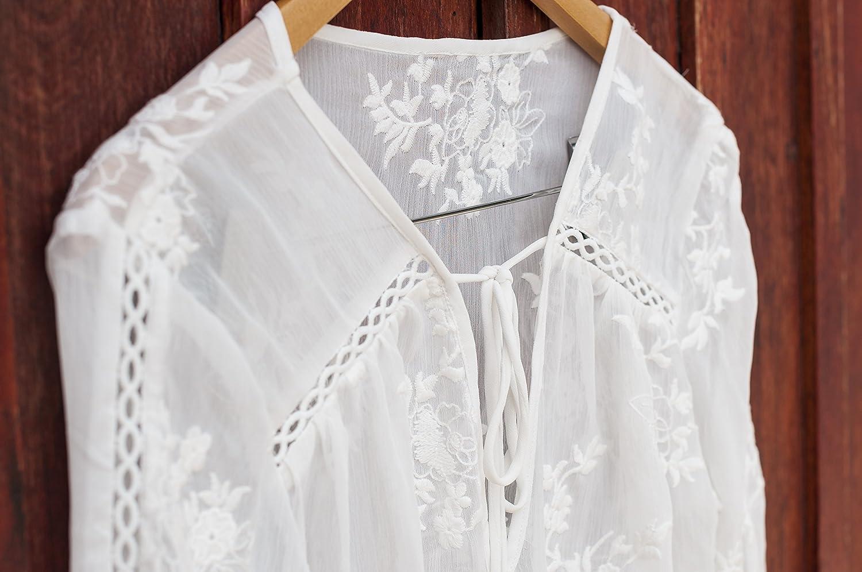 SEGALA Blusa Casual de Chiffon Camisa De Manga Larga Elegante Cuello V Camisa: Amazon.es: Ropa y accesorios