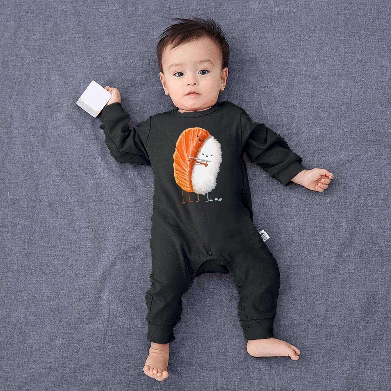 SJKSDVHF Funny Sushi Meat Hug Rice Baby Boys Girls Long Sleeve Baby Onesie Funny Onesies
