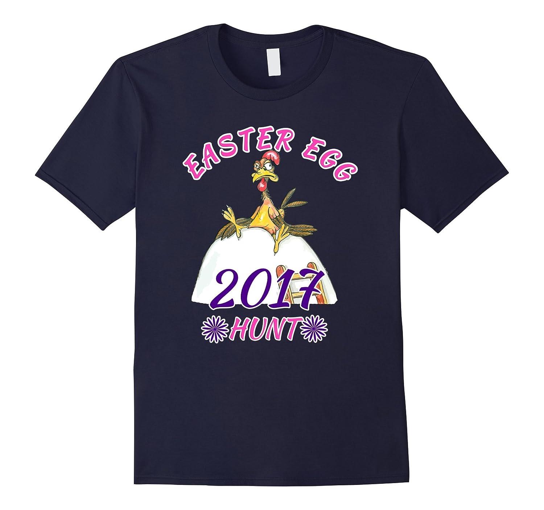 2017 Easter Egg Hunt - Funny Easter Colorful T-Shirt-CD
