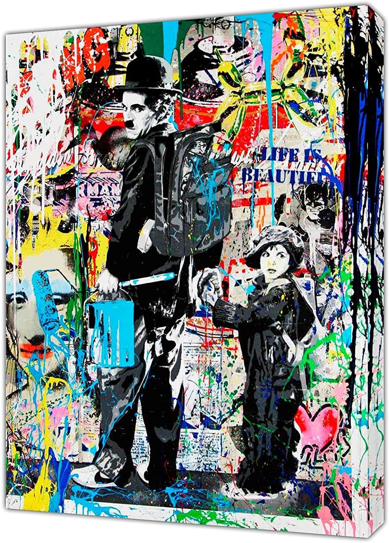 Motiv Little Girl  XXL150x100 Leinwand 2 cm Pop Art//Malerei//Druck//Bild//Urban