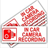 5 x In Car Camera Recording Warning Stickers (External Fitting)