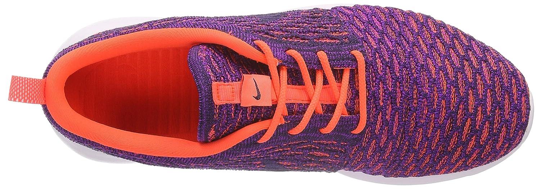 NIKE Womens Roshe One Flyknit Flyknit Colorblock Running Shoes B01F4P1YFA 8 B(M) US|Ttl Crimson/Grnd Purple-vvd Purple
