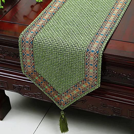 KKY-Enter Table Runner Mantel Pastoral Verde Mesa De Café Mantel ...
