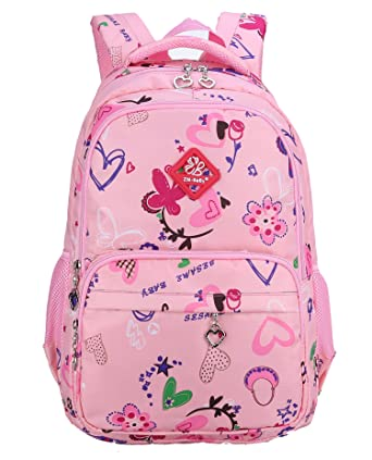 Amazon.com | Girls School Backpack for Kids Children Elementary ...