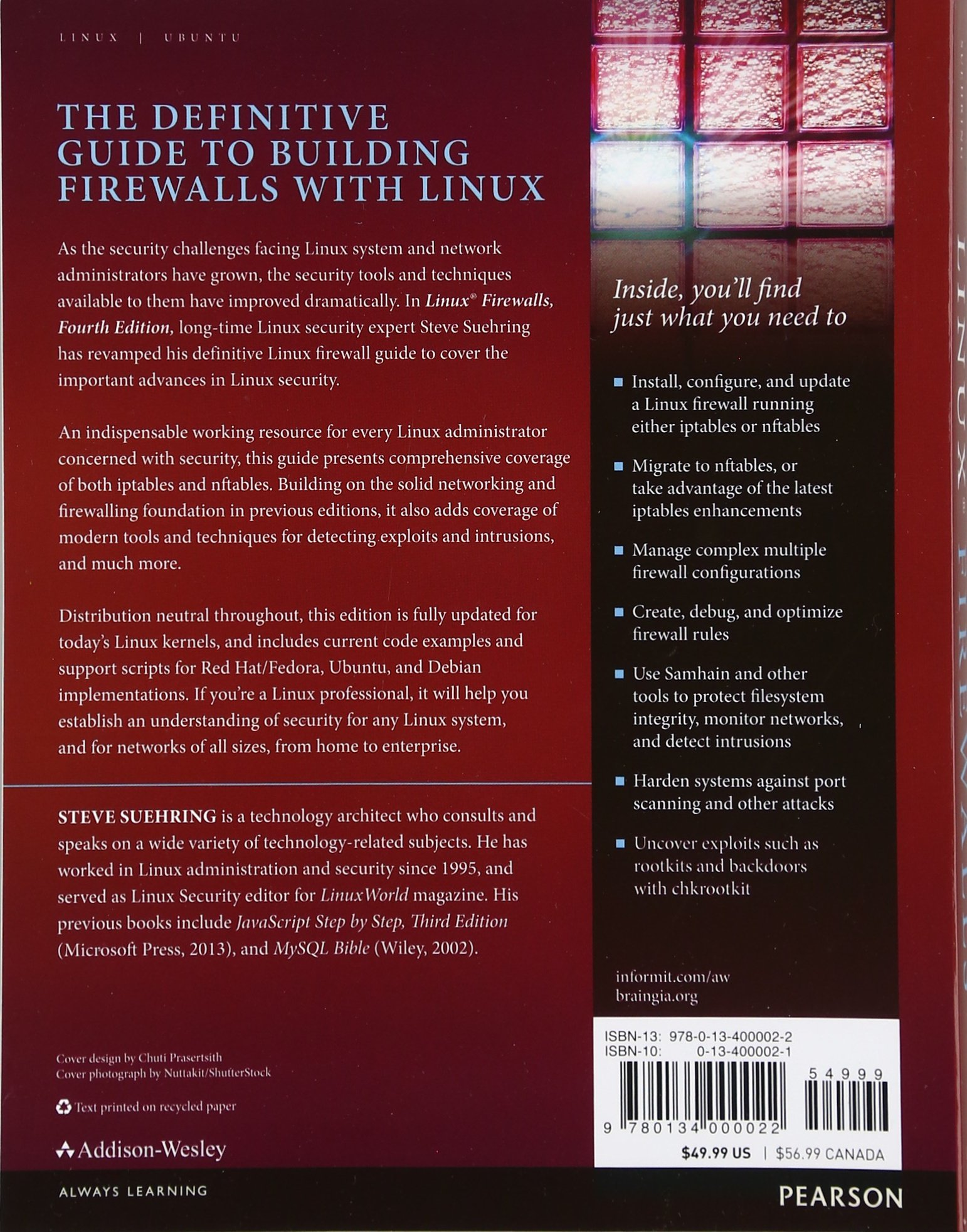 Linux firewalls enhancing security with nftables and beyond 4th edition amazon de steve suehring fremdsprachige b cher