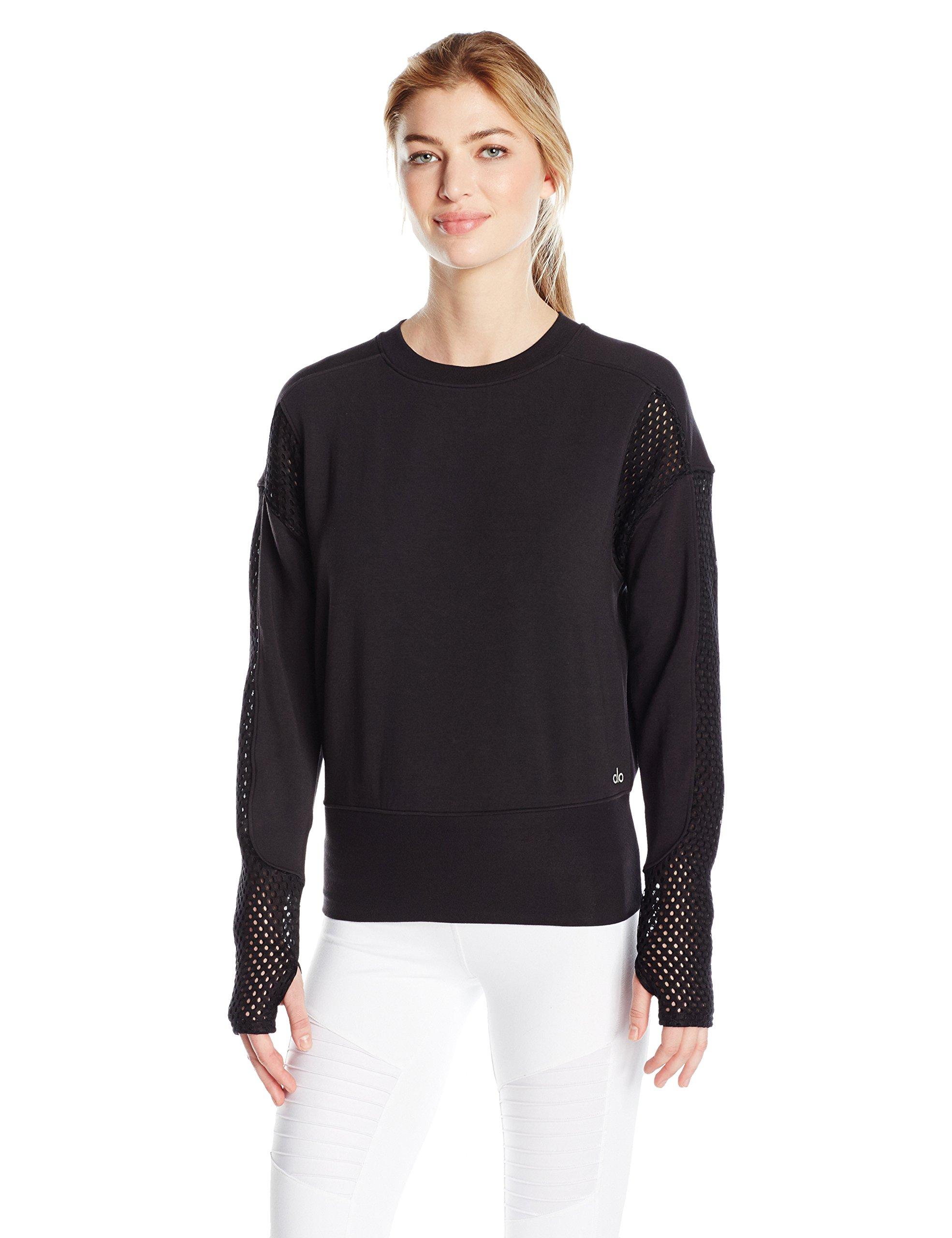 Alo Yoga Women's Formation Long Sleeve Top, Black, S