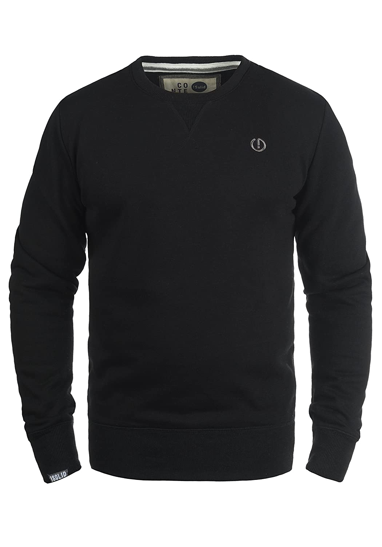 TALLA M. !Solid Benn Jersey Sudadera Suéter para Hombre con Cuello Redondo