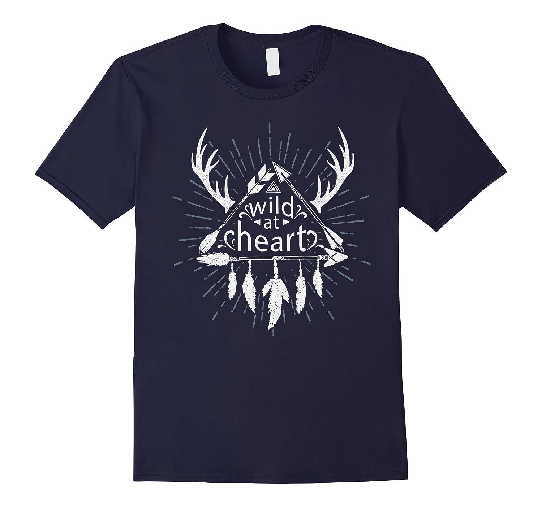 Wild at heart Mandala into the wild men t-shirt-Vaci