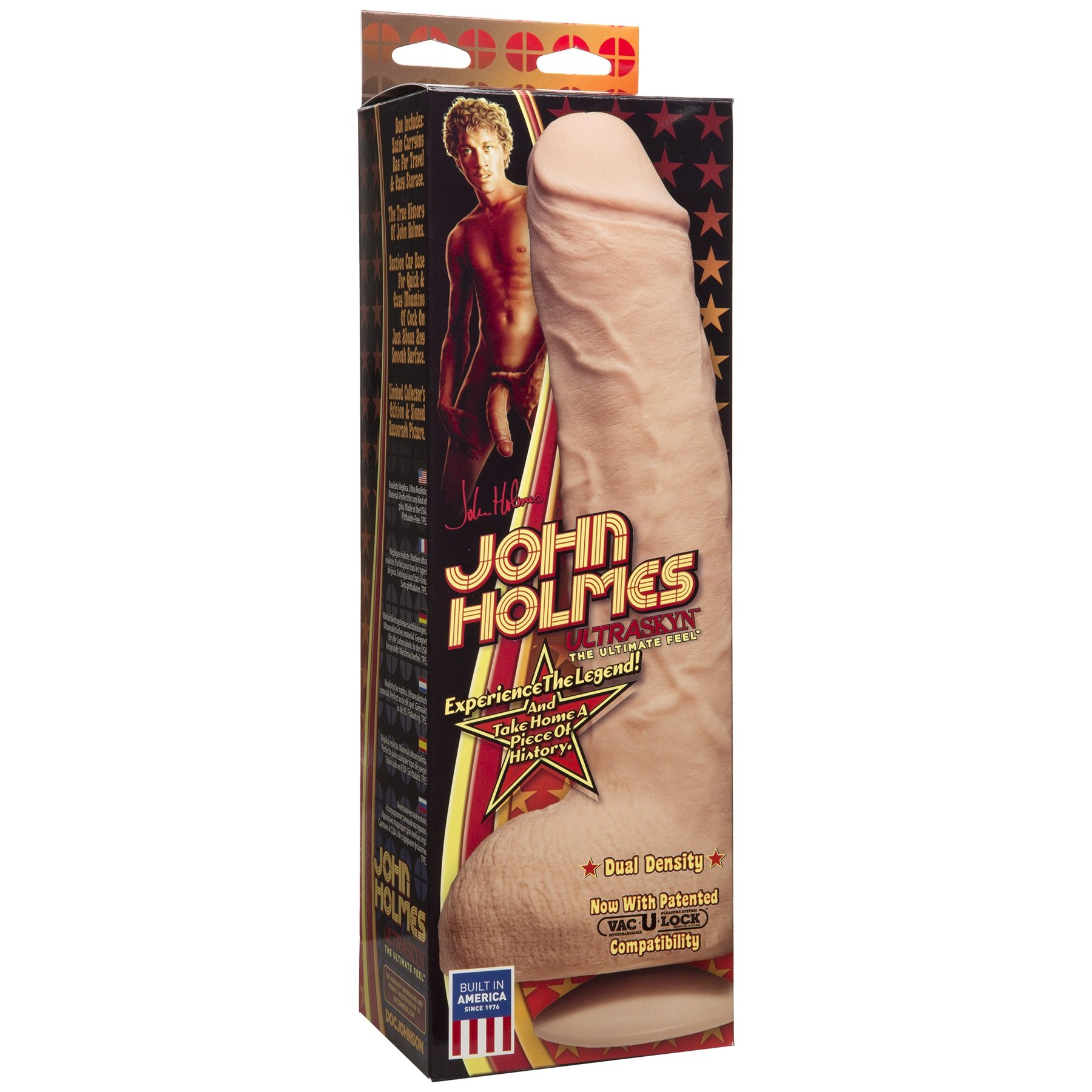 Doc Johnson The Legendary John Holmes - 12 Inch ULTRASKYN Dildo with Removeable Vac-U-Lock Suction Cup Base - 10 inches of Insertable Length - Harness Compatible - Storage Bag Included by Doc Johnson (Image #5)