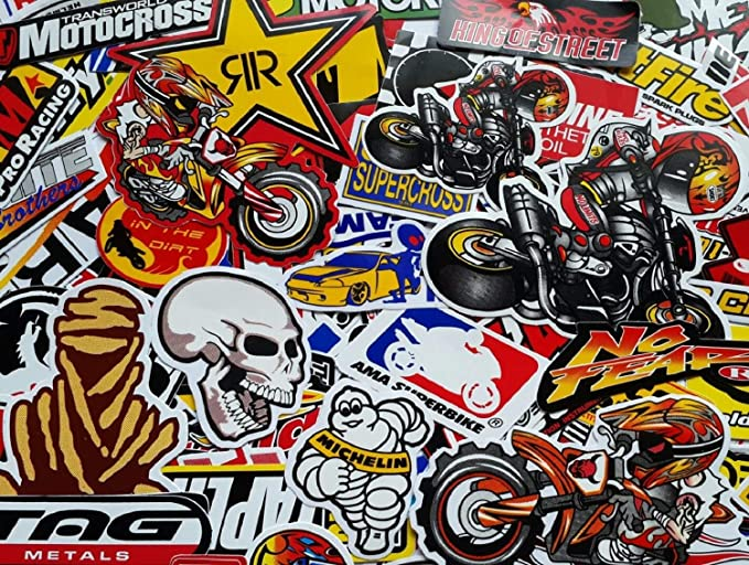 Mixed Random Stickers Motocross Motorcycle Car ATV Racing Bike Helmet Decal