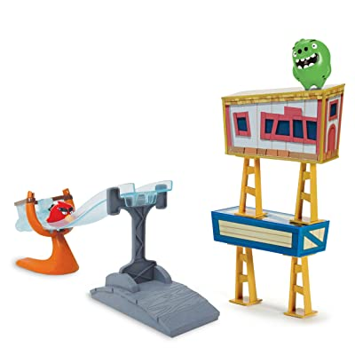 Angry Birds - Sling and Smash Track Set: Toys & Games