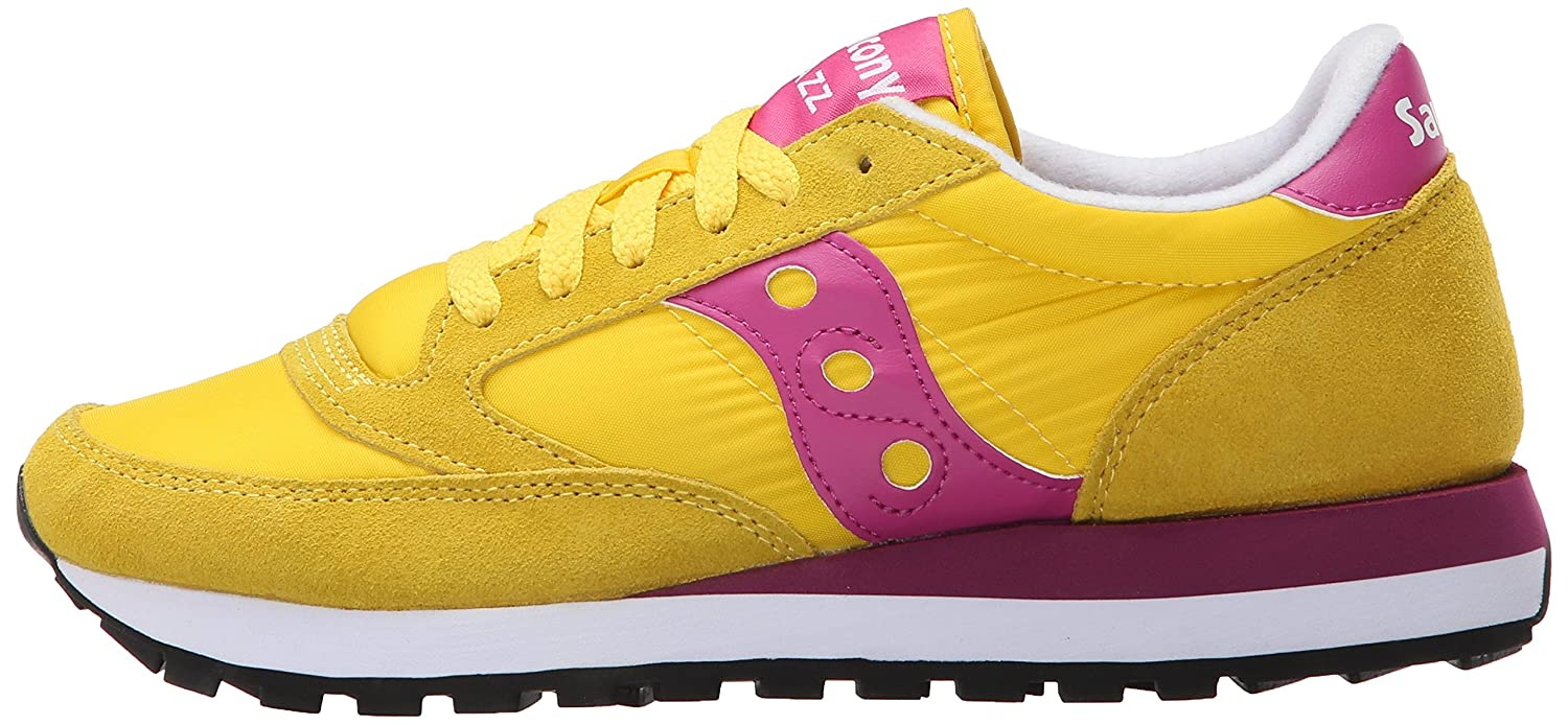 Saucony Originals Women's Jazz Original Sneaker B00XVAFBF0 6.5 M US|Yellow/Berry
