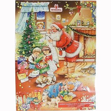 amazon com santa s gift list german advent calendar with chocolate