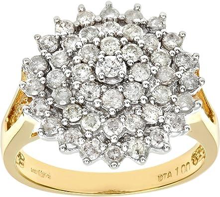 Naava 18ct Yellow Gold Ladies Diamond Ring Amazon Co Uk Jewellery